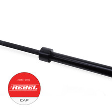 "CAP ""The Rebel"" Olympic Power Lifting Bar with Center Knurl, Black"