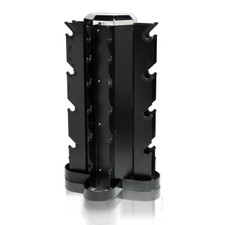 4-Sided Vertical Dumbbell Rack Black