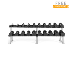 CAP Barbell 12-sided Commercial Rubber Dumbbells (Free Shipping)