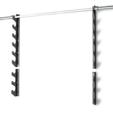 CAP 6 Horizontal Bar Storage Wall Rack on top and CAP 3 Horizontal Bar Storage Wall Rack on bottom