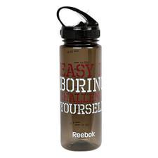 Reebok BPA-Free Water Bottle, Clear Black, 650 mL