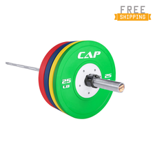 The Olympian 365lb Competition Set with Olympic 20KG (The Warrior) Needle Bearing Bar