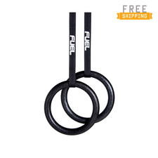 Fuel Pureformance Black Gymnastic Rings for Full Body Strength and Muscular Bodyweight
