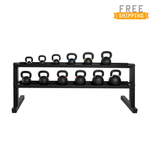 WF Athletic Supply 498 LB Competition Kettlebell Set with RACK (BOM)