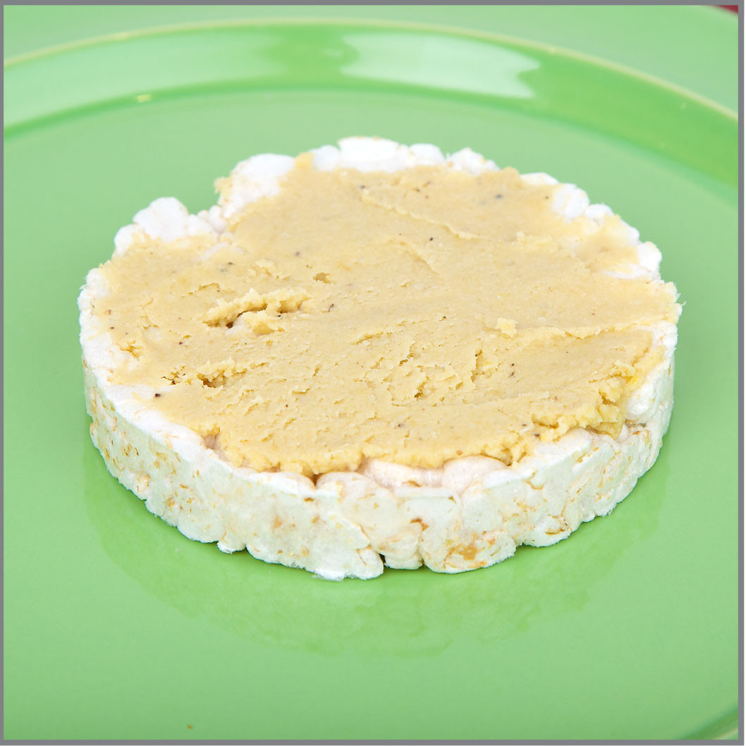 Rice Cake Hummus Chorizo