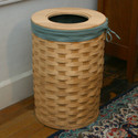 Peterboro Tall Round 13-Gallon Trash Basket / Laundry Hamper