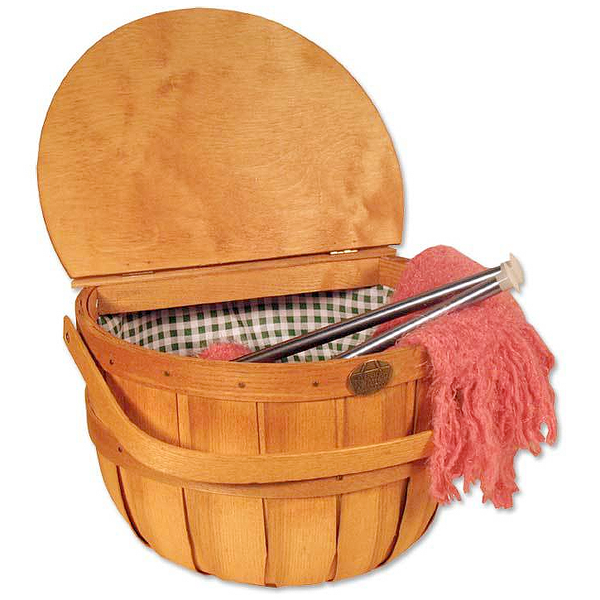 Peterboro Half-Peck Basket with Split Lid and Vinyl Liner