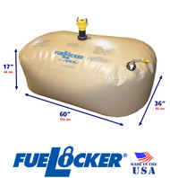 150 Gallon ALTERNATIVE CONFIGURATION ATL FueLocker Bladder With Filled Dimensions
