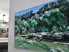 """Redbud (Spyglass)"" original artwork. Acrylic paint on 24x36x1 3/8"" gallery canvas."