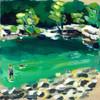 Swimming Hole (Stripes) Print
