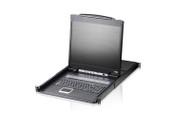 "ATEN CL1308NUKIT: 8-Port 19"" LCD Integrated USB/PS2 Combo KVM w/8 cables"