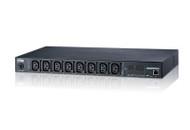 ATEN PE7108G: 1U, 15A 100-120V, NEMA5-15P, 8x NEMA5-15R, Outlet Monitoring