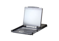 ATEN CL5708IN: 8-Port PS/2-USB VGA LCD KVM over IP Switch with Daisy-Chain Port and USB Peripheral Support
