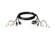 ATEN 2L-7D02DH: 1.8M USB HDMI to DVI-D KVM Cable with Audio