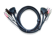 ATEN 2L-7D03UD: 10' USB DVI-D Dual Link KVM Cable
