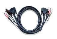 ATEN 2L-7D03UI: 10' USB DVI-I Single Link KVM Cable