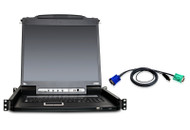 "ATEN CL5716MUKIT: 16-Port Slideaway™ 17"" LCD KVMP Switch w/16 USB KVM Cables"