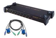 ATEN CS9138kit: 8-port KVM Switch w/Cables, OSD/Rack mountable
