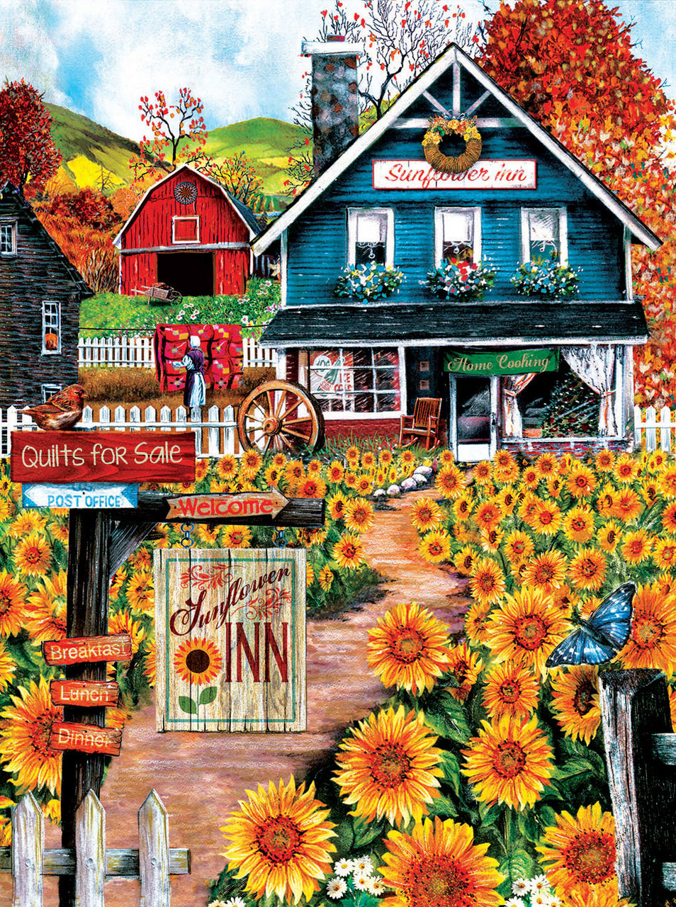 At The Sunflower Inn 1000pc Jigsaw Puzzle By Sunsout