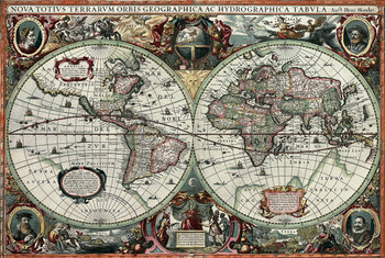 Tomax penguins world jigsaw puzzle historical old world map 1000pc jigsaw puzzle by tomax gumiabroncs Image collections