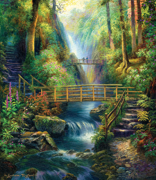 Forest Bridges 550pc Jigsaw Puzzle By Sunsout