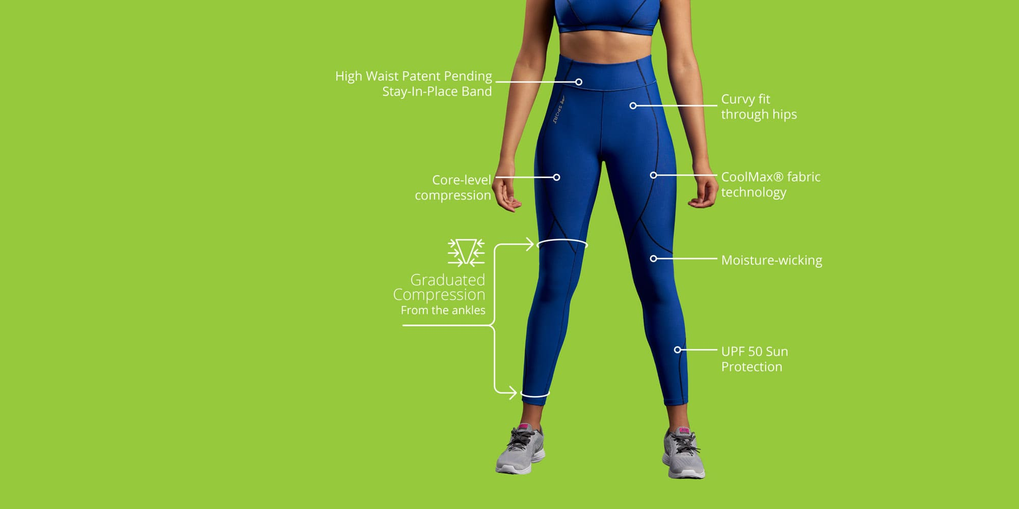 Women's Core: 15-20mmHG compression for everyday activities