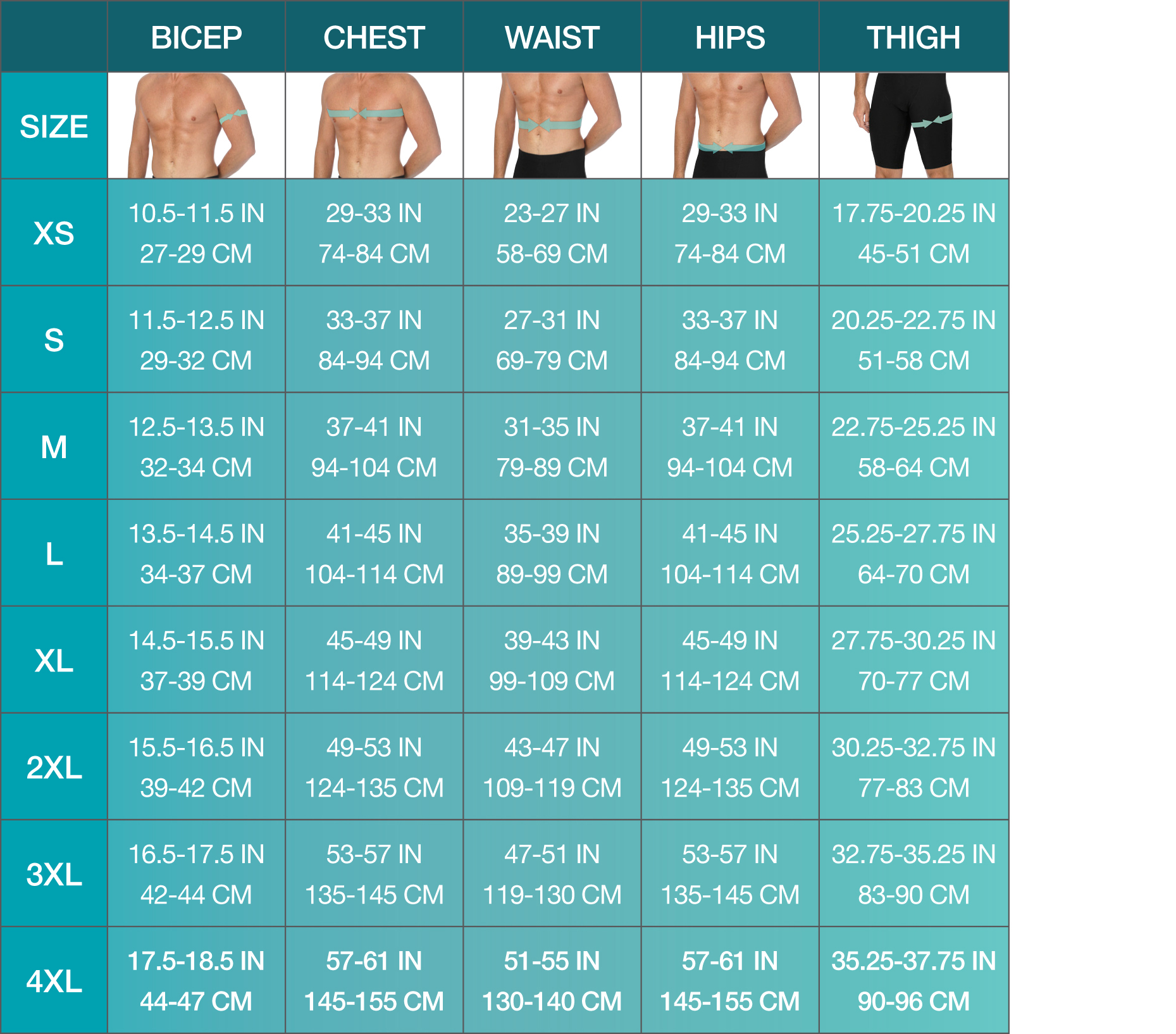 waist size chart for men: Size charts calculators for marena comfortwear