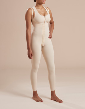 Ankle Length Compression Bodysuit with Full Back - Casual Stance