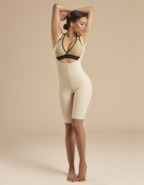 Short Compression Bodysuit with High Back - Casual Stance - Durable Stretch Fabric