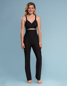 Marena Shape ME-210 high-waist yoga pants, seen here with the B09Z seamless cup bra with zipper (sold separately).