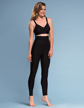 Marena Shape ME-621 high-waist compression leggings, seen here with the B09Z seamless cup bra with zipper (sold separately).
