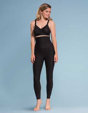 Marena Shape ME-211 high-waist compression leggings with wide band, seen here with the B09Z seamless cup bra with zipper (sold separately).