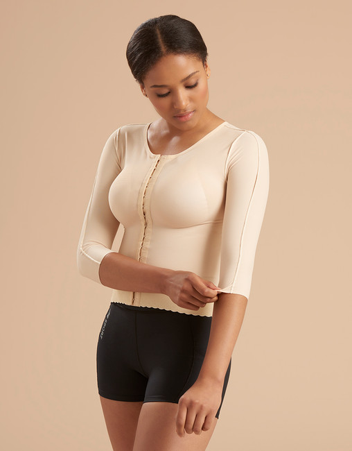 3/4-Length Sleeves Compression Vest with Long Torso