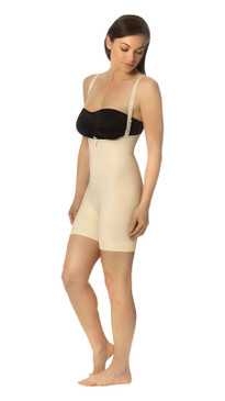 FBT2 | Mid-Thigh Girdle with Suspenders - Zipperless