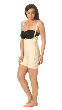 Mid-Thigh Girdle with Suspenders and Side Zipper Closures