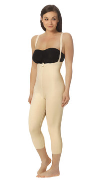 FBM2 | Capri-Length Girdle with Suspenders - Zipperless