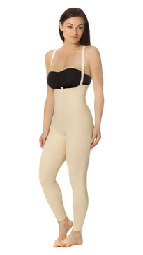 Ankle-Length Girdle with Suspenders - Zipperless