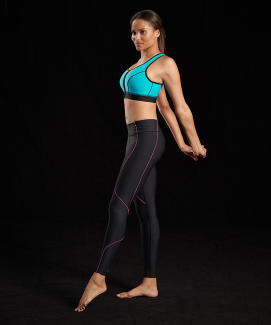 Marena Sport 230 elite compression legging for women, seen here with the 100 classic compression sports bra (sold separately).
