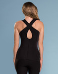 Marena Sport ME-803 easy-on compression key hole cami, seen here with 202 compression yoga pants (sold separately).