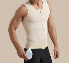 Marena Recovery POUCH2 drink bulb pouches 2-pack, seen here with the MV sleeveless compression vest for men (sold separately).
