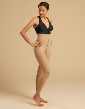 Marena Recovery LL1GL single zip compression girdle ankle length, seen here with the ME-811 bra (sold separately).