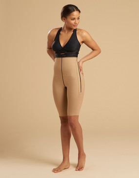 LL1GS | New!  Single Zip Compression Girdle - Thigh Length