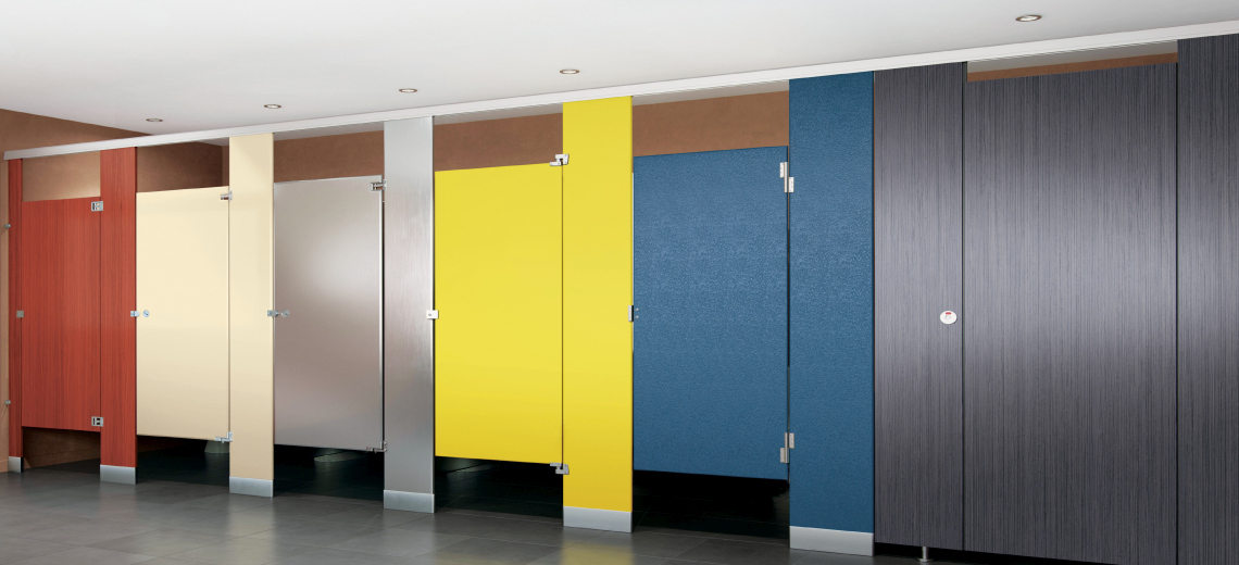 awesome Bathroom Stall Dividers Part - 14: Types of toilet partitions - Restroom Stalls and All