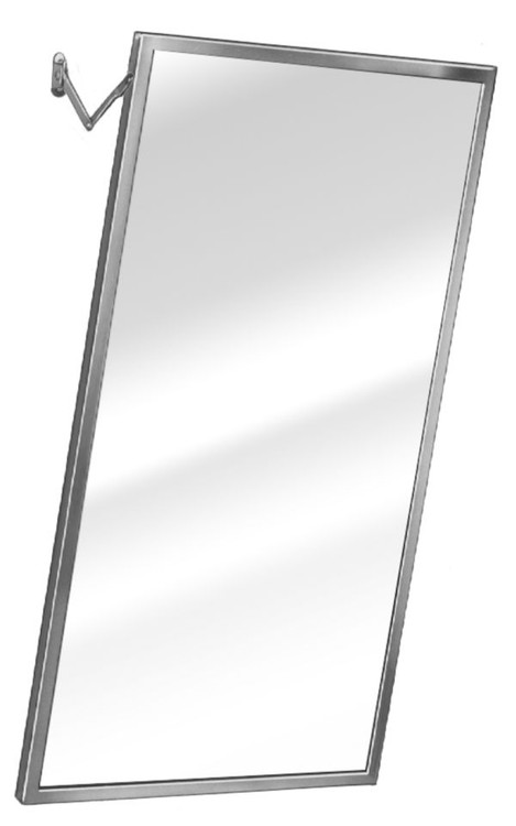Adjustable Tilt Stainless Steel Framed Mirror, 24 inches wide by 36 ...