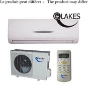 Lakes, 9000BTU Heat Pump, W/Indoor & Oudoor Unit & Wireless Remote