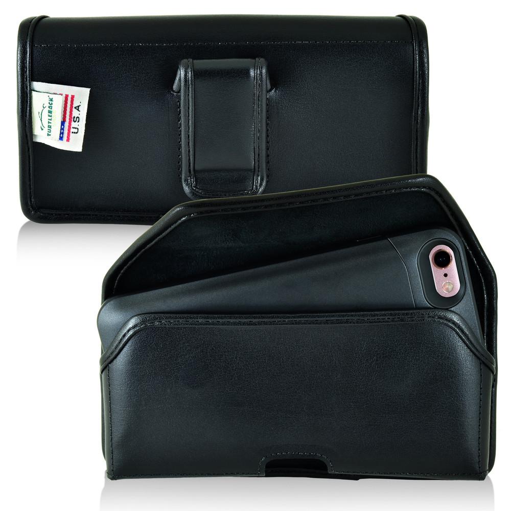 PhoneSuit Elite 6 Holster Black Belt Clip Case Pouch Leather Turtleback