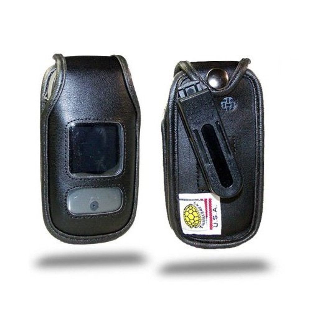 Pantech Breeze 3 Executive Leather Phone Case with Ratcheting Belt Clip