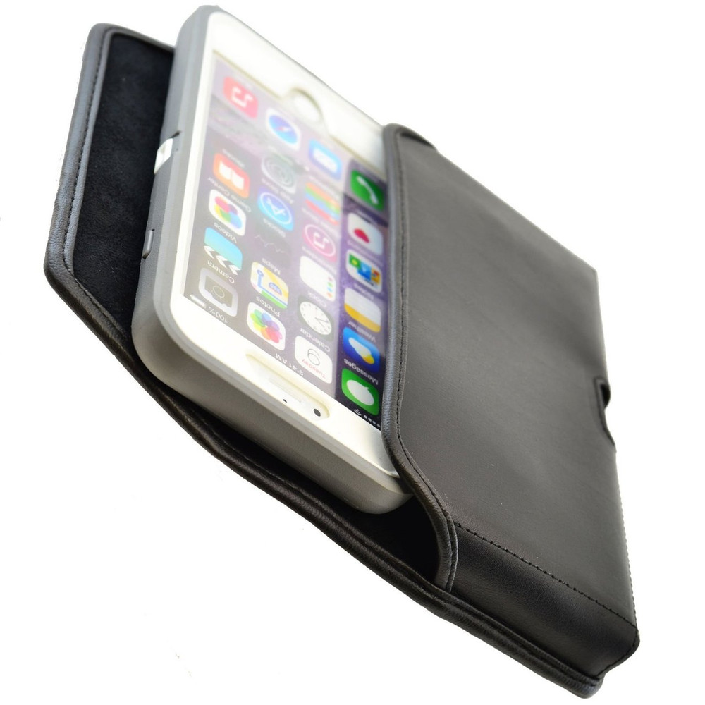 iPhone 6 Plus/6S Plus Extended  Horizontal Leather Rotating Clip Holster