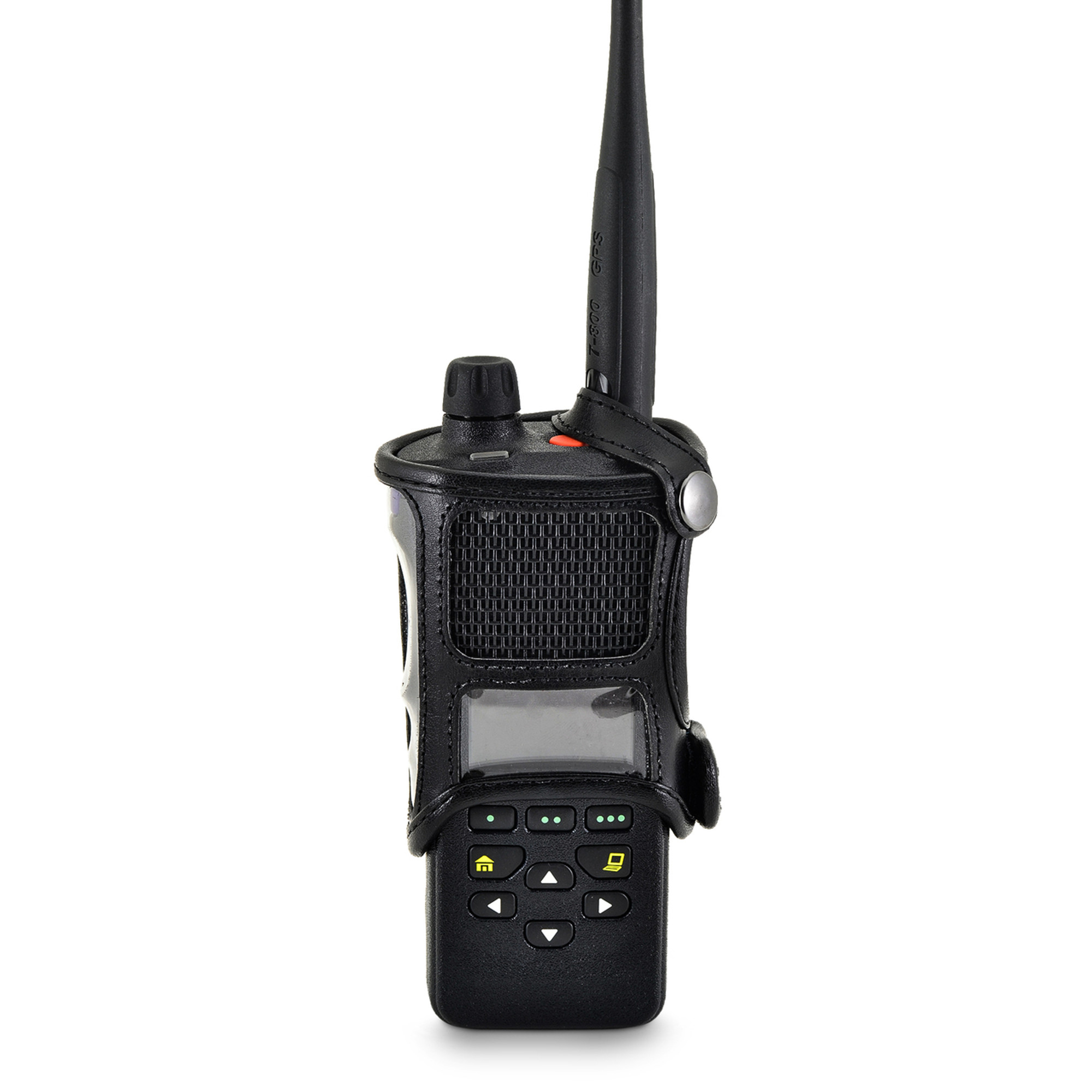 motorola 4000 radio. motorola apx 4000 single knob radio duty belt carry holder case black leather holster with heavy o