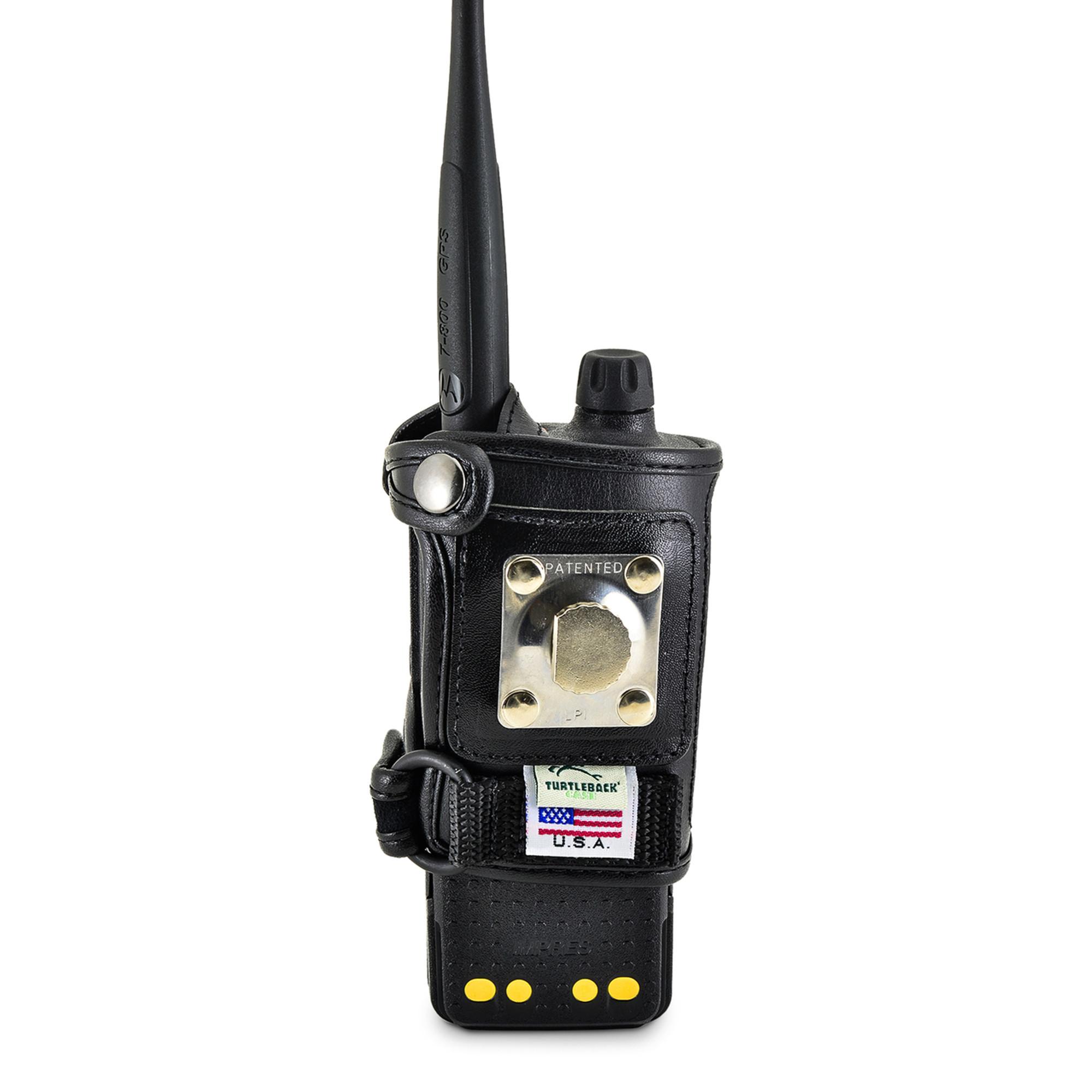 motorola 4000 radio. motorola apx 4000 single knob radio duty belt carry holder case black leather holster with heavy
